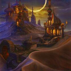 Пазл онлайн: Город в песках. Ночь