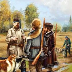 Пазл онлайн: Александр III на охоте