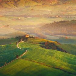 Пазл онлайн: Осень в Тоскане