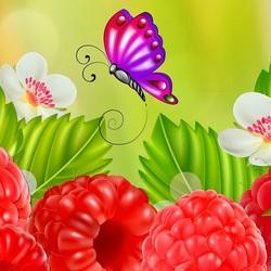 Пазл онлайн: Сочная малина