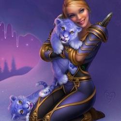 Пазл онлайн: Синие зверята