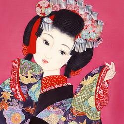 Пазл онлайн: Очаровательная японка