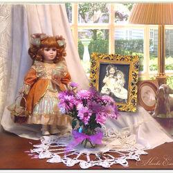 Пазл онлайн: Натюрморт с куклой