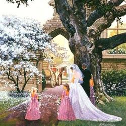 Пазл онлайн: Свадебный путь