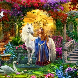 Пазл онлайн: Волшебный сад