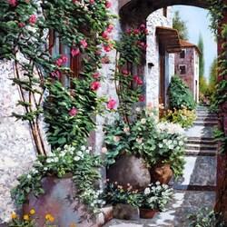 Пазл онлайн: Розы вьющиеся