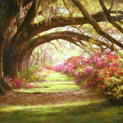 Пазл онлайн: Под тенью старых деревьев