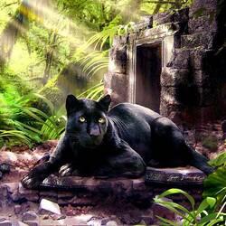 Пазл онлайн: Хозяйка джунглей