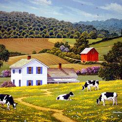 Пазл онлайн: Вниз на ферму
