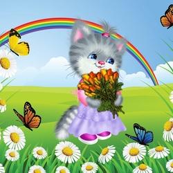 Пазл онлайн: Кошечка