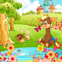 Пазл онлайн: Красочная полянка
