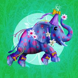 Пазл онлайн: Цирковой слон