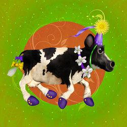 Пазл онлайн: Цирковая корова