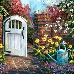 Пазл онлайн: Калитка в сад