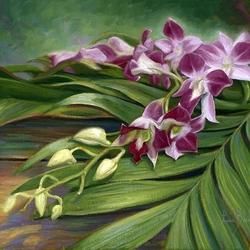 Пазл онлайн: Веточка орхидеи