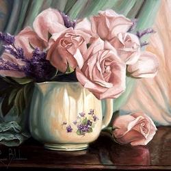 Пазл онлайн: Розовые розы