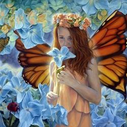 Пазл онлайн: Фея бабочек