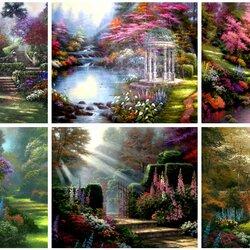 Пазл онлайн: В садах Кинкейда