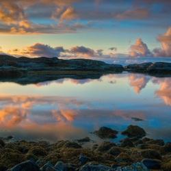 Пазл онлайн: Норвежский закат
