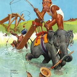 Пазл онлайн: Рискованая рыбалка