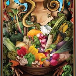 Пазл онлайн:  Богиня овощей