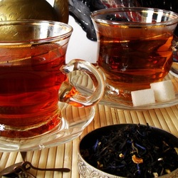 Пазл онлайн: Две чашки чая