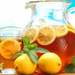 Пазл онлайн: Мятный чай с лимоном