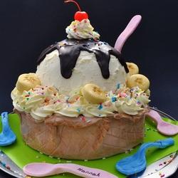 Пазл онлайн: Торт-мороженое