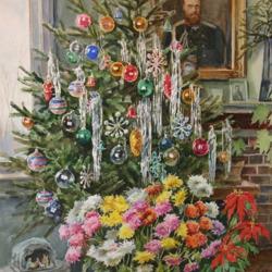 Пазл онлайн: Рождество в доме Княгини Ольги