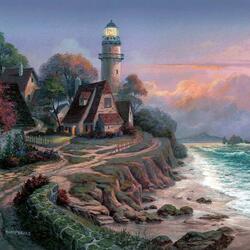 Пазл онлайн: У маяка