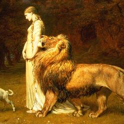 Пазл онлайн: Уна и лев