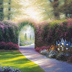 Пазл онлайн: Аллея в саду