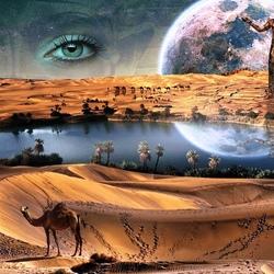 Пазл онлайн: Пустынная фантазия