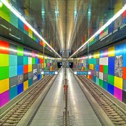Пазл онлайн: Станция метро в Мюнхене