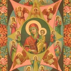 Пазл онлайн: Икона Неопалимая Купина.