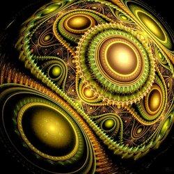 Пазл онлайн: Фрактальный шар