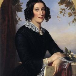 Пазл онлайн:  Портрет Генриетты Элизабет Жаклин Bienfait