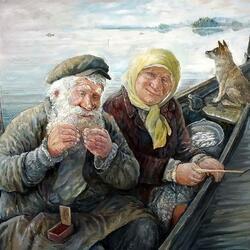 Пазл онлайн: На рыбалке