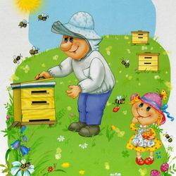 Пазл онлайн: Пчеловод