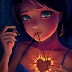 Пазл онлайн: Сильная девушка