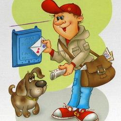 Пазл онлайн: Почтальон