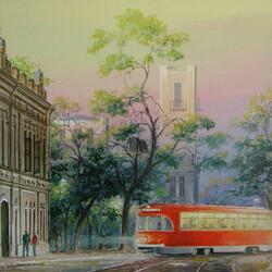 Пазл онлайн: Старый трамвай