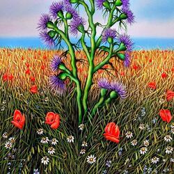 Пазл онлайн: Цветы Сицилии