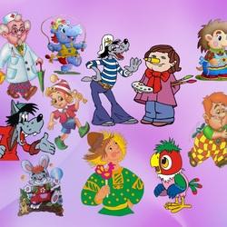 Пазл онлайн: Старые мультфильмы