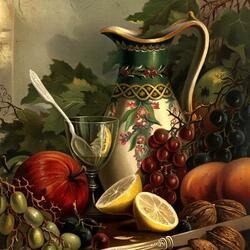 Пазл онлайн: Красочный натюрморт