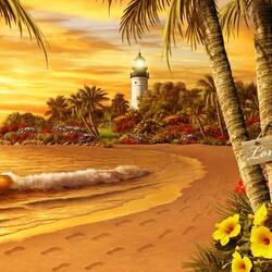 Пазл онлайн: Тропическая любовь