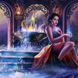 Пазл онлайн: Ночь волшебства
