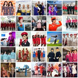 Пазл онлайн: Стюардессы авиакомпаний мира