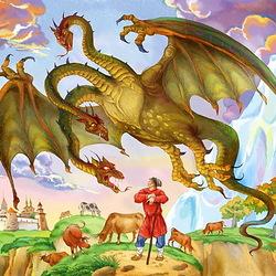 Пазл онлайн: Змей Горыныч