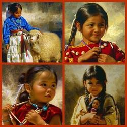 Пазл онлайн: Индейские дети